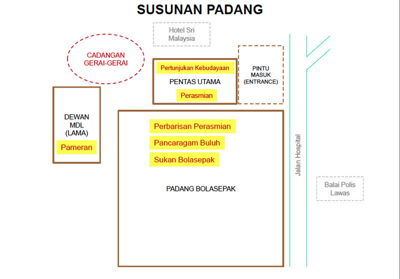 Lun Bawang Festival Location - Event Layout