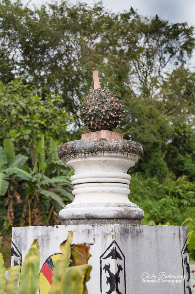 Durian, the King of Fruits, sculpture.